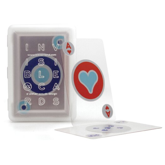 Kikkerland Invisible Playing Cards