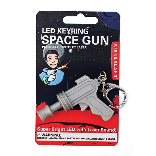 Kikkerland Accessories Space Gun LED Keychain
