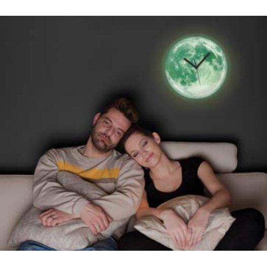 "Kikkerland 13.5"" Moon Wall Clock"