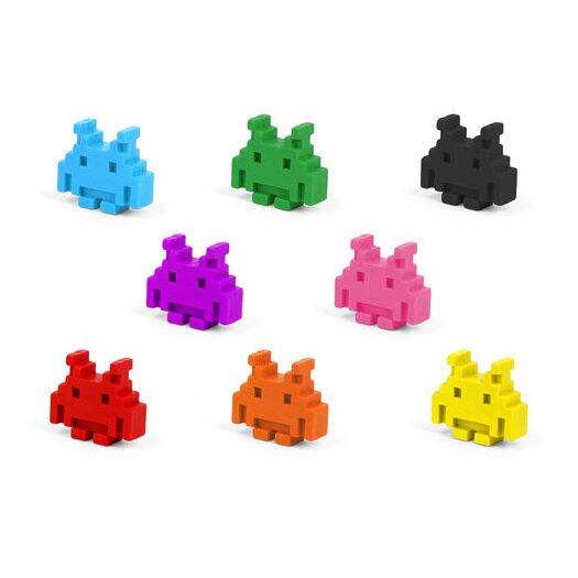 Kikkerland Space Invader Crayons