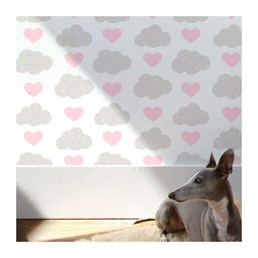 Aimee Wilder Designs Loveclouds Wallpaper Sample