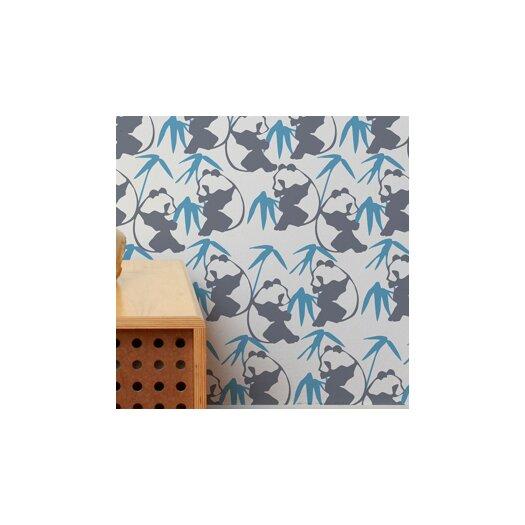 Aimee Wilder Designs Panda Wallpaper Sample