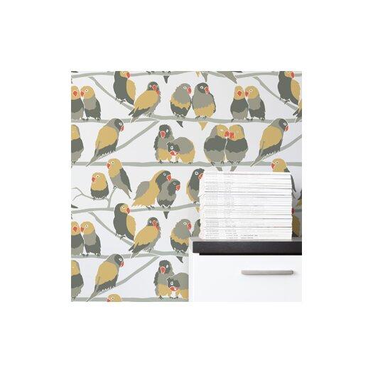 Aimee Wilder Designs Lovebirds Wallpaper Sample