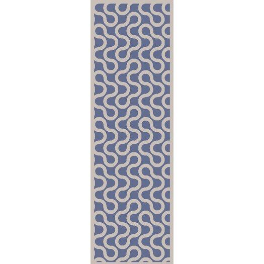 Native Cobalt/Ivory Geometric Rug