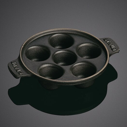 "Staub Round 5.75"" Snail Dish with 6 Holes"