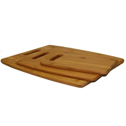 Oceanstar Design 3 Piece Cutting Board Set in Natural