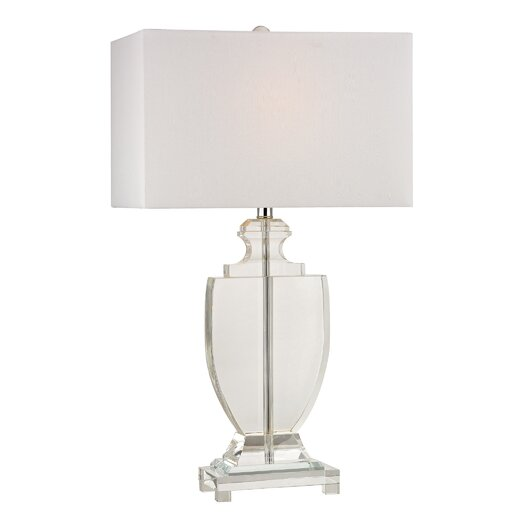 "Dimond Lighting 26"" H Table Lamp with Rectangular Shade"
