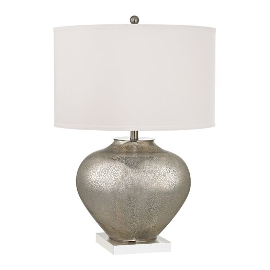 """Dimond Lighting Oversized 28"""" H Table Lamp with Drum Shade"""