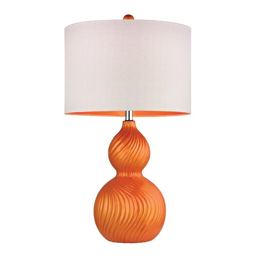 """Dimond Lighting Swirled Gourd 26"""" H Table Lamp with Drum Shade"""