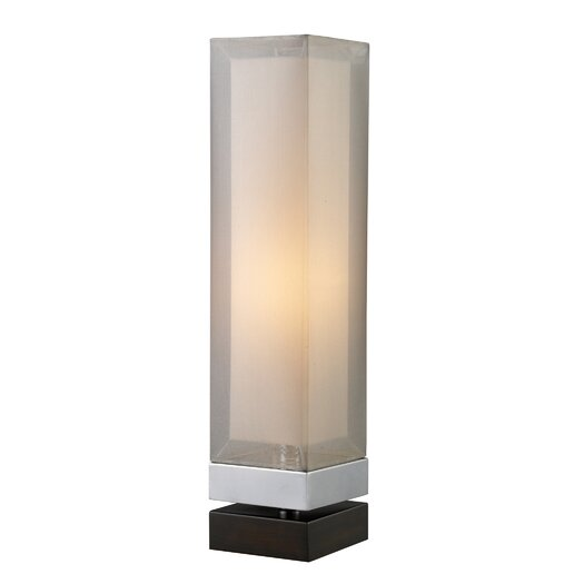 """Dimond Lighting Volant 23"""" H Table Lamp with Square Shade"""