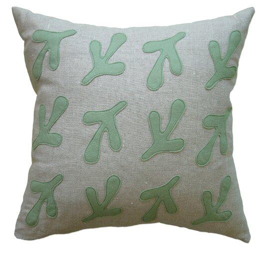 Balanced Design Bird's Feet Applique Pillow