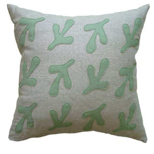 Bird's Feet Applique Pillow