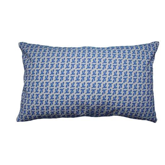 Balanced Design Hand Printed Canvas Pillow Birds Feet