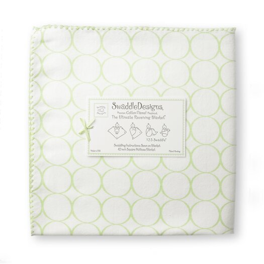 Ultimate Receiving Blanket� in Pastel Mod Circles on White