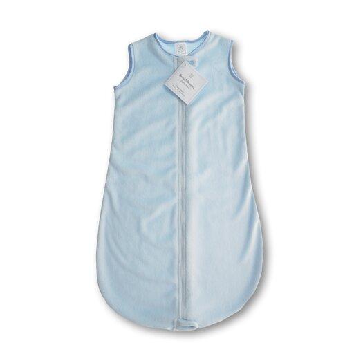 zzZipMe Sack in Pastel Blue Baby Velvet Solid Pastel