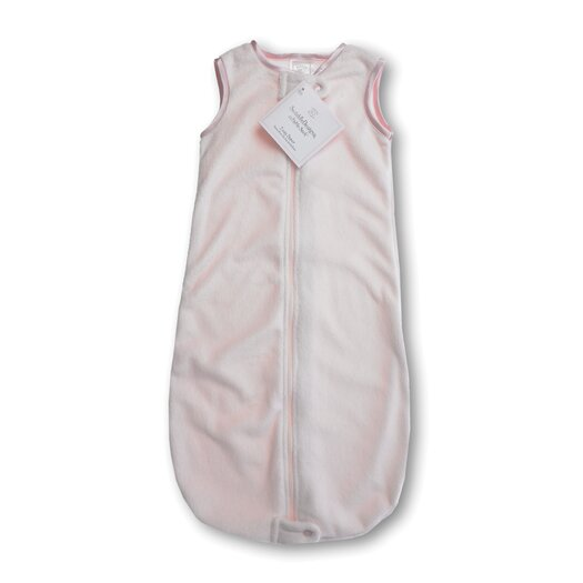 Swaddle Designs zzZipMe Sack in Pastel Pink Baby Velvet Solid Pastel