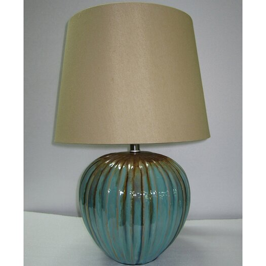 "Yosemite Home Decor 1 Light Portable 23"" H Table Lamp with Empire Shade"