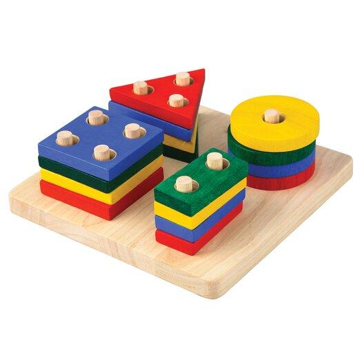 Plan Toys Preschool Geometric Sorting Board
