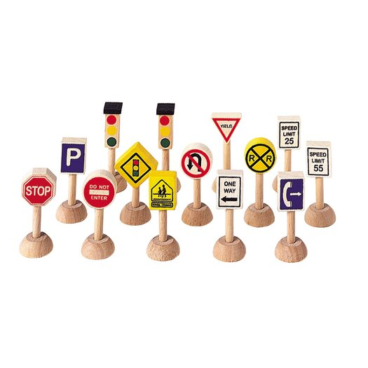 Plan Toys City Set of Traffic Signs and Lights