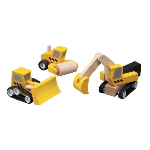 Plan Toys City Road Construction Vehicle Set