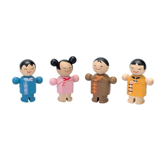 Plan Toys City Family Asian Dolls
