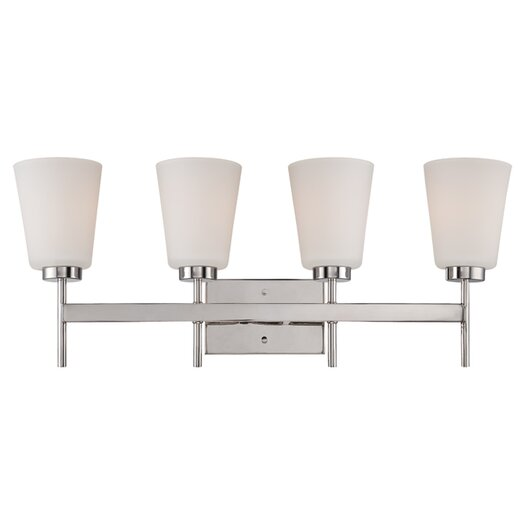 Nuvo Lighting Benson 4 Light Vanity Light in Polished Nickel