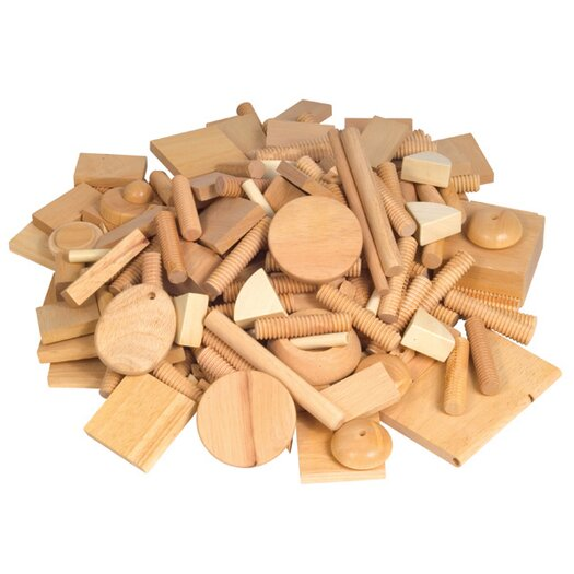 Guidecraft Varied Design Wood Block