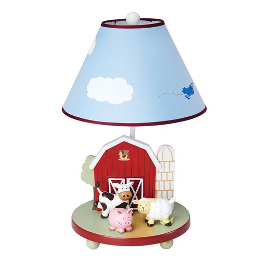 """Guidecraft Farm Friends 19"""" H Table Lamp with Empire Shade"""
