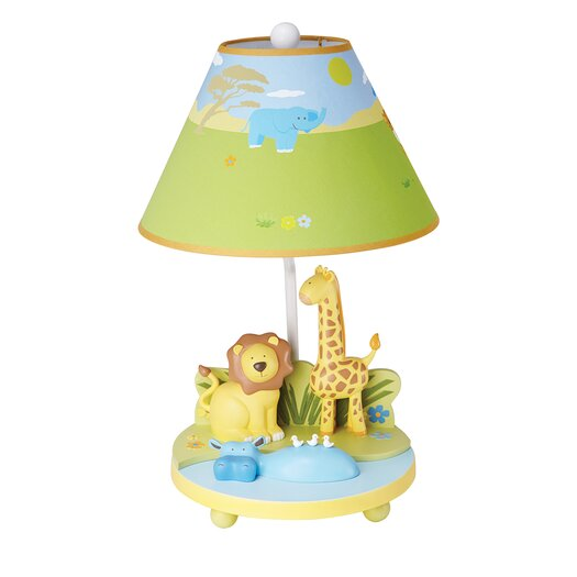 """Guidecraft Savanna Smiles 19"""" H Table Lamp with Empire Shade"""