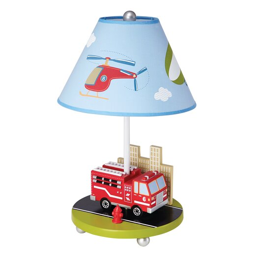 """Guidecraft Moving All Around 19"""" H Table Lamp with Empire Shade"""