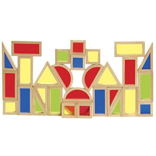 Guidecraft 30 Piece Rainbow Block Set