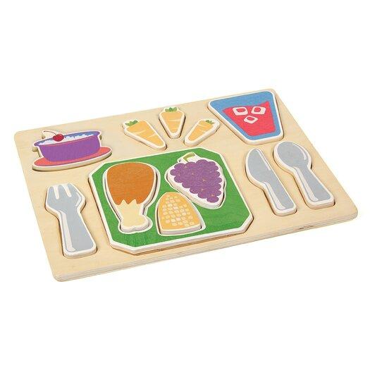 Guidecraft Dinner Sorting Food Tray
