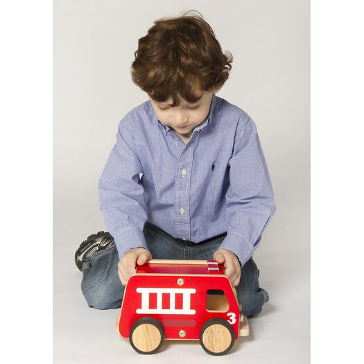 Guidecraft Plywood Fire Engine Truck