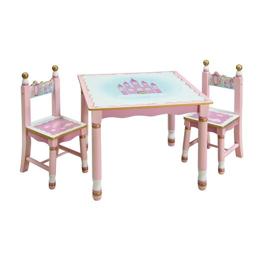 Guidecraft Princess Kids' 3 Piece Table and Chair Set
