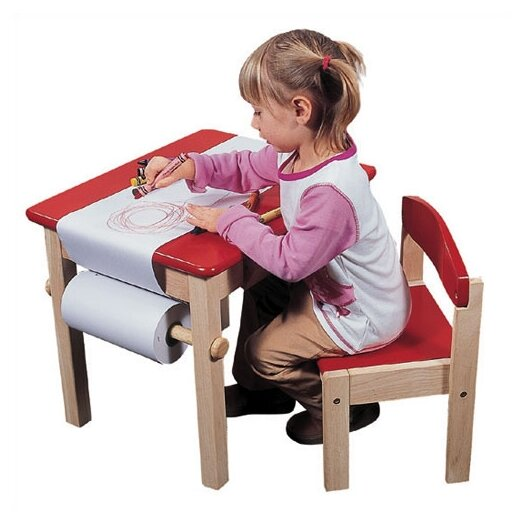 Guidecraft Red Art Table & Chair Set