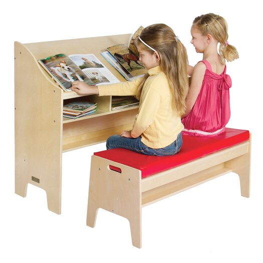"""Guidecraft Classroom Furniture 42"""" W Desk with Bench"""