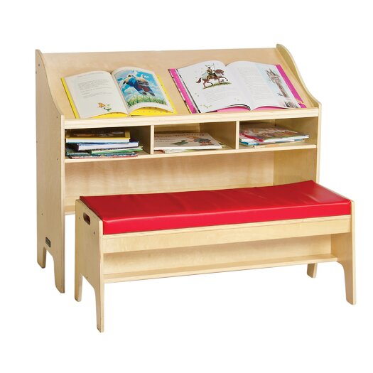 "Guidecraft Classroom Furniture 42"" W Desk with Bench"