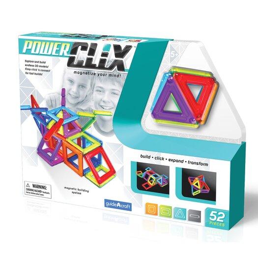 Guidecraft Construction Toys PowerClix 52 Piece Building Set