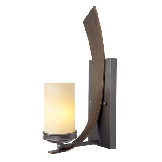 Varaluz Aizen 1 Light Recycled Tall Wall Sconce