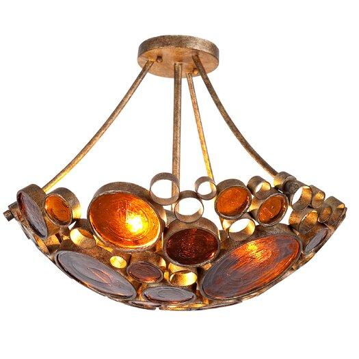Varaluz Recycled Fascination 3 Light Semi Flush Mount Ceiling Light