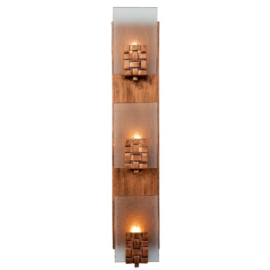 Varaluz Dreamweaver 3 Light Vertical Recycled Wall Sconce