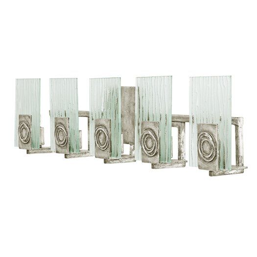 Varaluz Polar Recycled 5 Light Bath Vanity Light