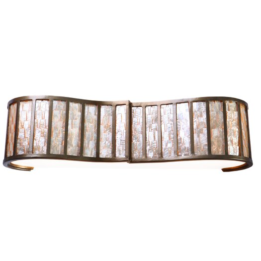 Varaluz Affinity Sustainable Shell 3 Light Bath Vanity Light