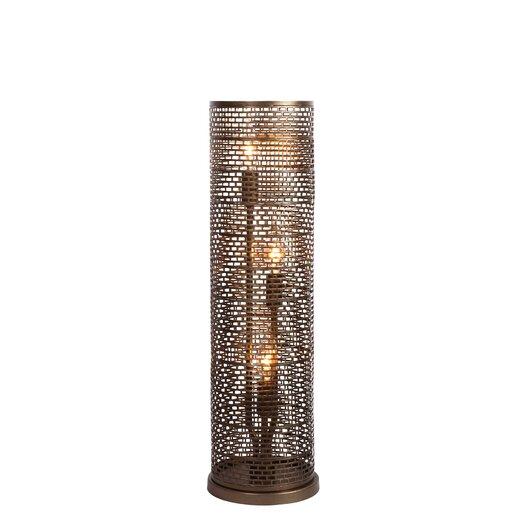 "Varaluz Lit-Mesh Test 22.25"" H Table Lamp with Drum Shade"