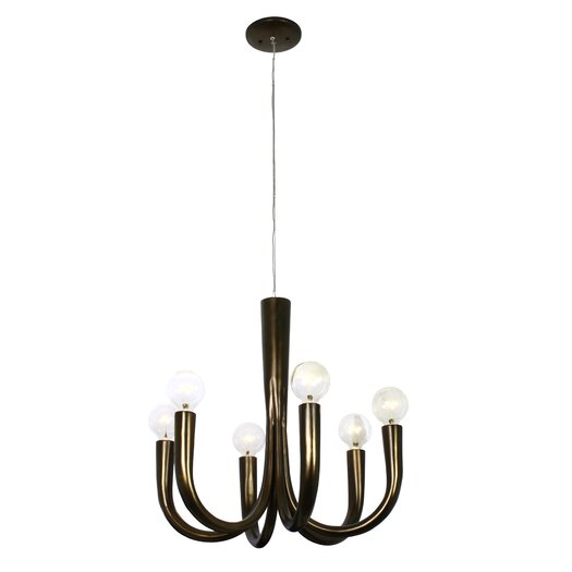 Varaluz Don Taper 6 Light Chandelier