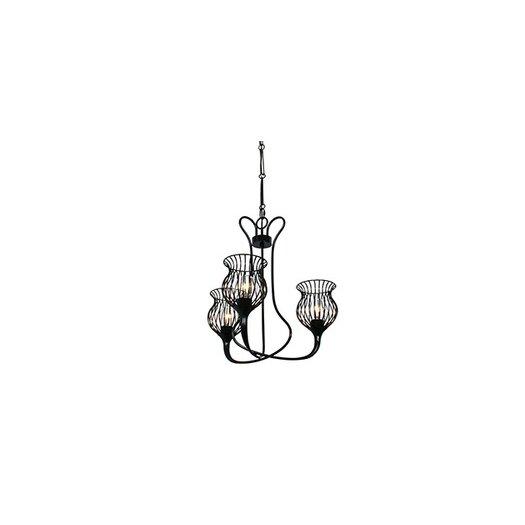 Varaluz Encaged 3 Light Mini Chandelier