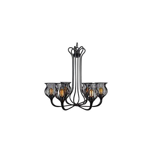 Varaluz Encaged 6 Light Mini Chandelier