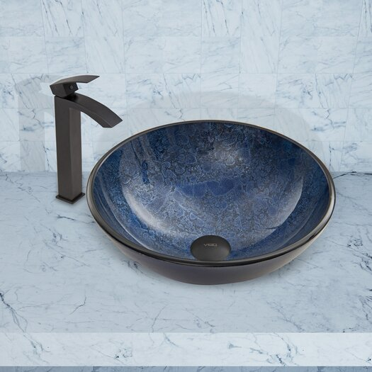 Vigo Single Hole Angled Faucet with Single Handle