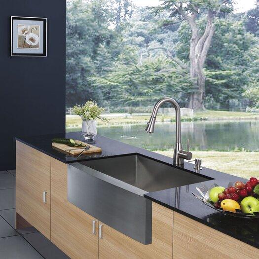 """Vigo 36"""" Farmhouse Kitchen Sink"""