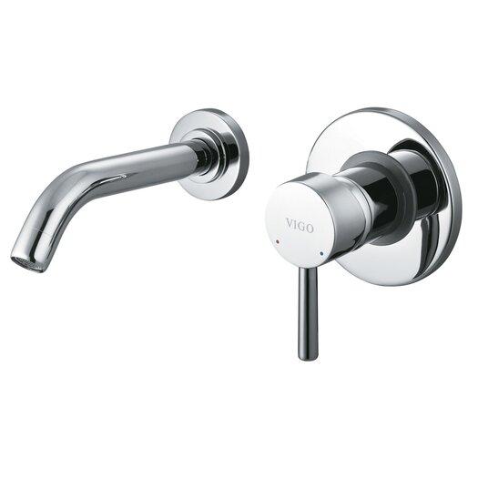 Vigo Wall Mounted Bathroom Faucet with Single Lever Handle
